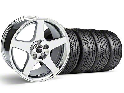2003 Cobra Style Chrome Wheel & Sumitomo Tire Kit - 17x9 (99-04 All)