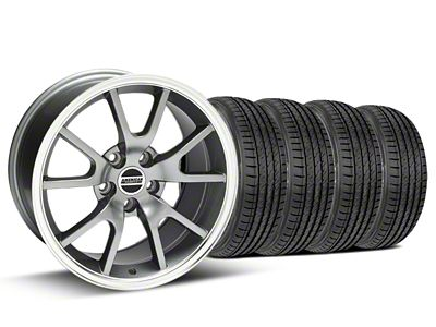 FR500 Style Anthracite Wheel & Sumitomo Tire Kit - 17x9 (99-04 All)