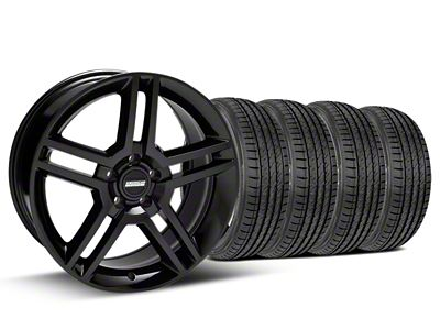 Staggered 2010 GT500 Style Black Wheel & Sumitomo Tire Kit - 19x8.5/10 (05-14 All)