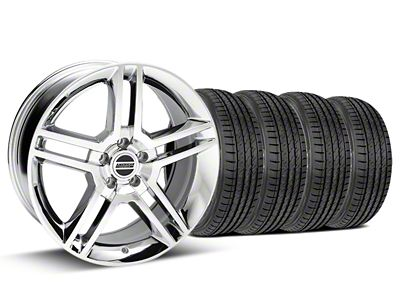 Staggered 2010 GT500 Style Chrome Wheel & Sumitomo Tire Kit - 19x8.5/10 (05-14 All)