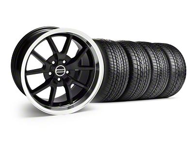 Staggered FR500 Style Black Wheel & Sumitomo Tire Kit - 17x9/10.5 (99-04 All)