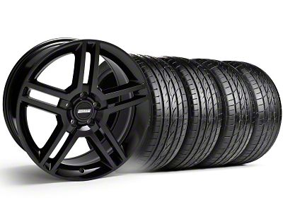 2010 GT500 Style Black Wheel & Sumitomo Tire Kit - 19x8.5 (99-04 All)