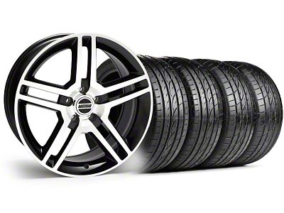 2010 GT500 Style Black Machined Wheel & Sumitomo Tire Kit - 19x8.5 (99-04 All)