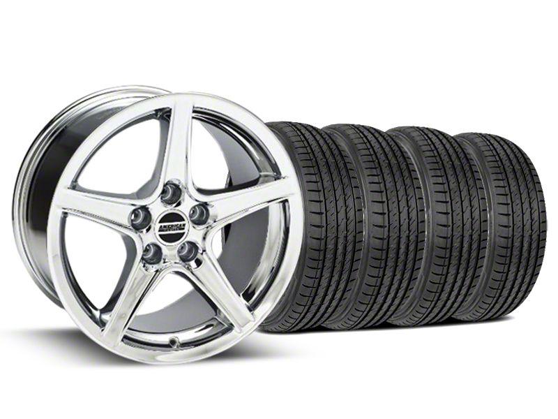 Saleen Style Chrome Wheel & Sumitomo Tire Kit - 17x9 (99-04 All)