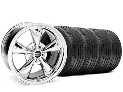 Staggered Bullitt Chrome Wheel & Sumitomo Tire Kit - 20x8.5/10 (05-10 GT; 05-14 V6)