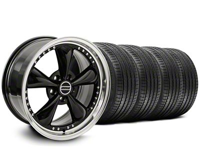 Staggered Bullitt Motorsport Black Wheel & Sumitomo Tire Kit - 20x8.5/10 (05-10 GT; 05-14 V6)