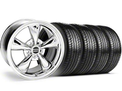 Bullitt Chrome Wheel & Pirelli Tire Kit - 19x8.5 (05-14 Standard GT, V6)