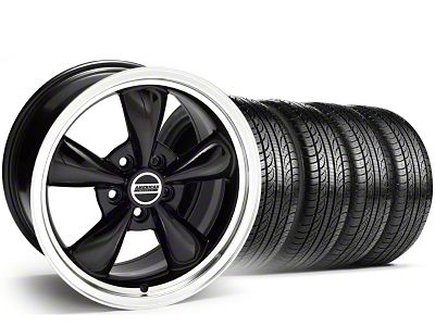 Staggered Bullitt Black Wheel & Pirelli Tire Kit - 19x8.5/10 (05-14 Standard GT, V6)