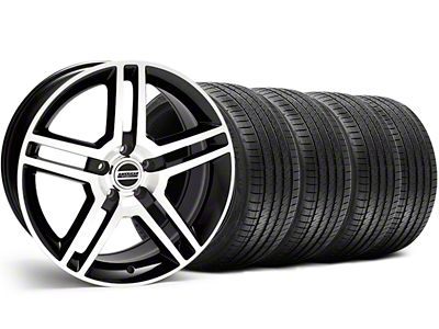 2010 GT500 Style Black Machined Wheel & Sumitomo Tire Kit - 18x9 (05-14 All, Excluding 13-14 GT500)