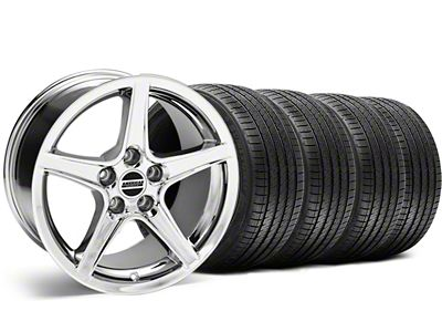 Saleen Style Chrome Wheel & Sumitomo Tire Kit - 18x9 (99-04 All)