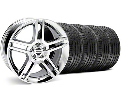 Staggered 2010 GT500 Style Chrome Wheel & Sumitomo Tire Kit - 18x9/10 (05-14 All)