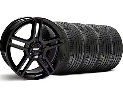 Staggered 2010 GT500 Style Black Wheel & Sumitomo Tire Kit - 18x9/10 (99-04 All)
