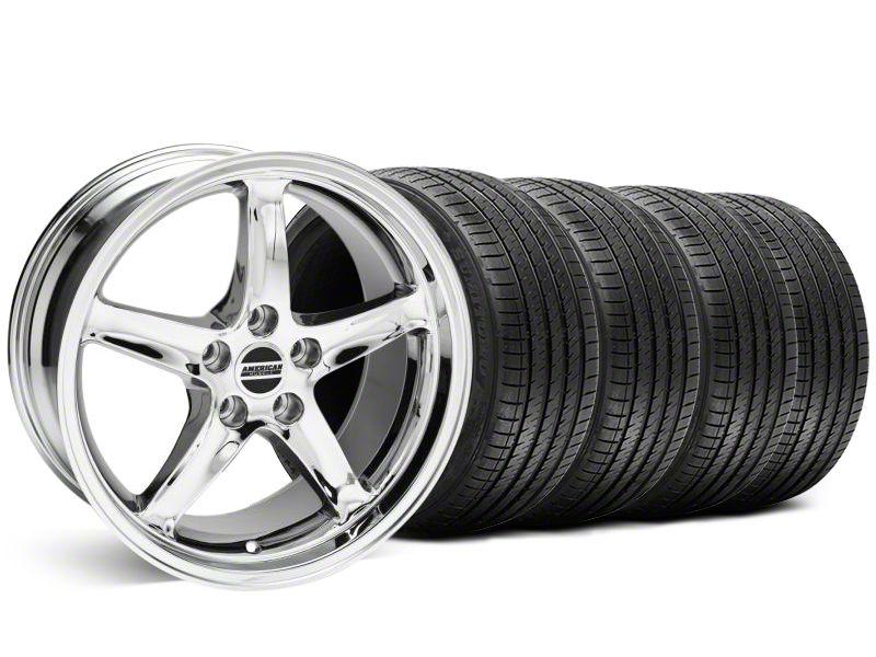 Staggered 1995 Cobra R Style Chrome Wheel & Sumitomo Tire Kit - 18x9/10 (99-04 All)