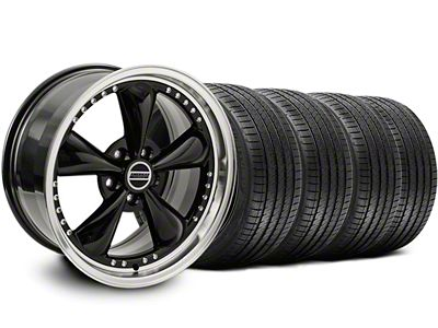 Bullitt Motorsport Black Wheel & Sumitomo Tire Kit - 18x9 (05-14 Standard GT, V6)