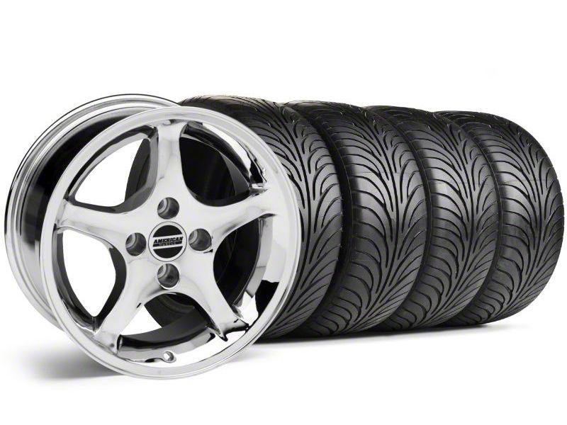 1995 Cobra R Style Chrome Wheel & Sumitomo Tire Kit - 17x9 (87-93 All, Excluding Cobra)
