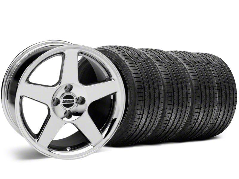 2003 Cobra Style Chrome Wheel & Sumitomo Tire Kit - 17x9 (87-93 All, Excluding Cobra)