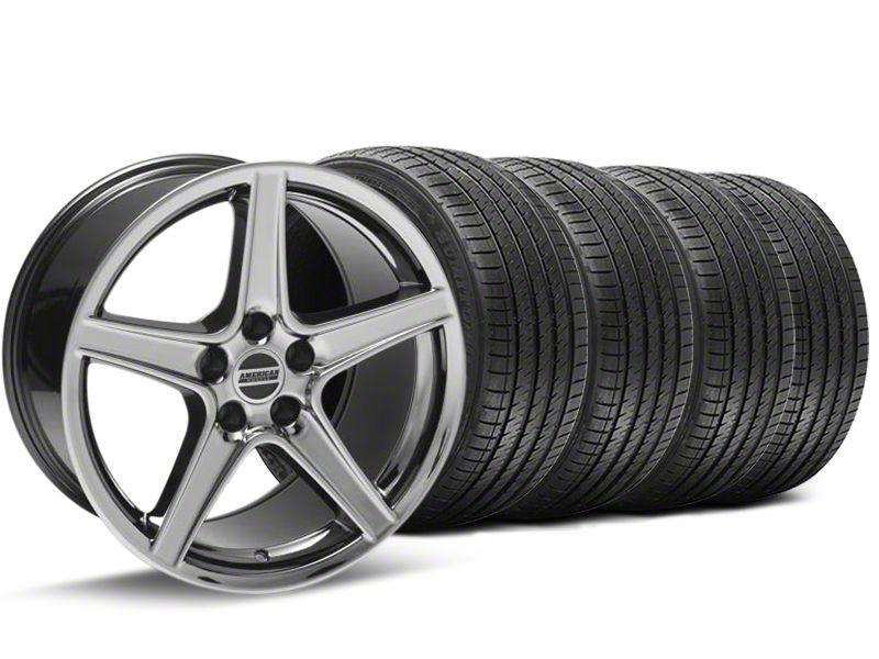 Saleen Style Black Chrome Wheel & Sumitomo Tire Kit - 18x9 (94-98 All)