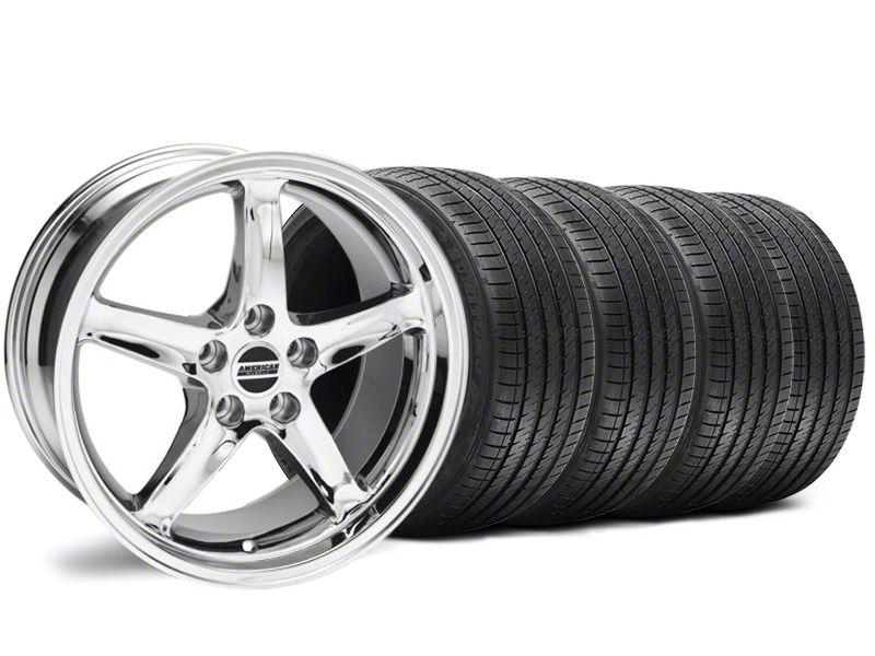 Deep Dish Staggered 1995 Cobra R Style Chrome Wheel & Sumitomo Tire Kit - 18x9/10 (94-98 All)