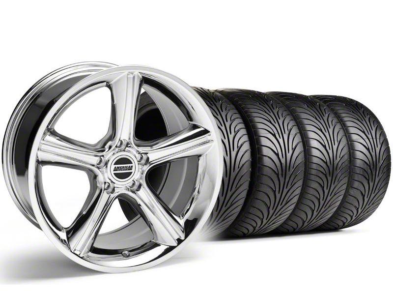 Staggered 2010 GT Premium Style Chrome Wheel & Sumitomo Tire Kit - 18x9/10 (94-98 All)
