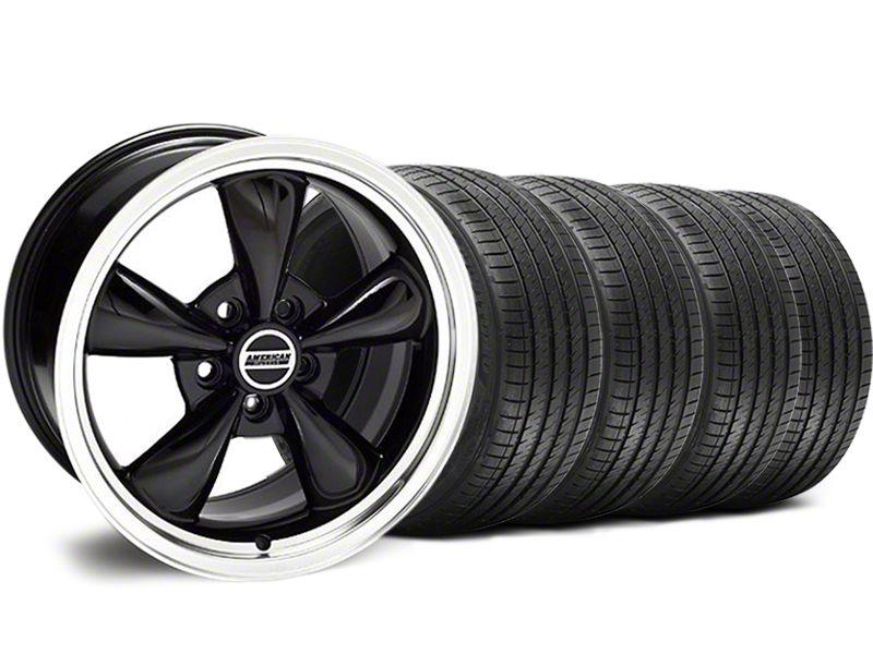 Staggered Bullitt Black Wheel & Sumitomo Tire Kit - 18x9/10 (94-98 All)