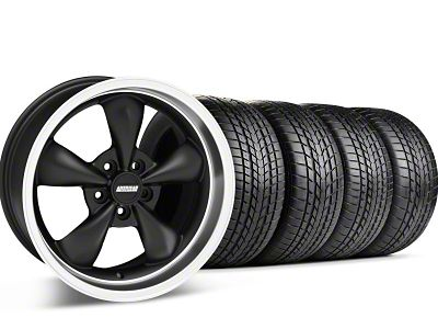 Staggered Bullitt Matte Black Wheel & Sumitomo Tire Kit - 17x9/10.5 (99-04 All)