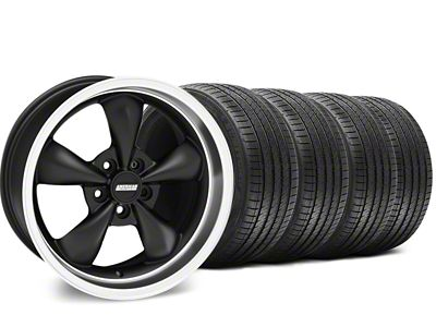 Staggered Bullitt Matte Black Wheel & Sumitomo Tire Kit - 18x9/10 (99-04 All)