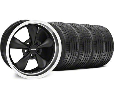 Staggered Bullitt Matte Black Wheel & Sumitomo Tire Kit - 18x9/10 (94-98 All)