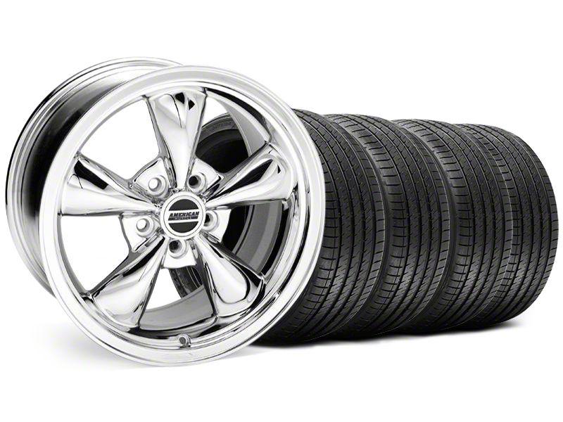 Staggered Bullitt Chrome Wheel & Sumitomo Tire Kit - 18x9/10 (94-98 All)