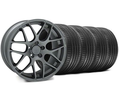 AMR Charcoal Wheel & Sumitomo Tire Kit - 18x8 (05-14 All)