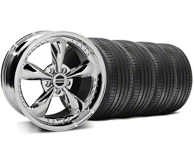 Bullitt Motorsport Chrome Wheel & Sumitomo Tire Kit - 18x9 (05-14 Standard GT, V6)