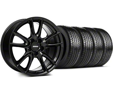 Track Pack Style Gloss Black Wheel & Pirelli Tire Kit - 19x8.5 (05-14 All)