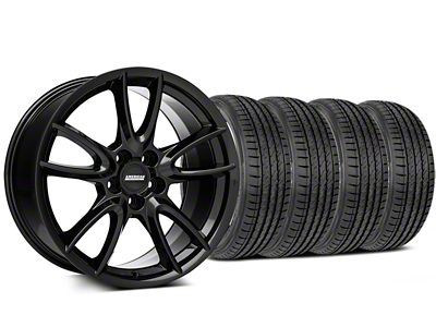 Track Pack Style Staggered Gloss Black Wheel & Sumitomo Tire Kit - 19x8.5/10 (05-14 All)