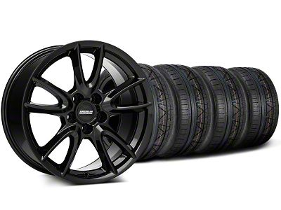 Track Pack Style Staggered Gloss Black Wheel & NITTO INVO Tire Kit - 19x8.5/10 (05-14 All)