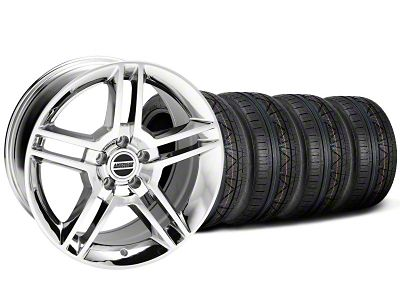 Staggered 2010 GT500 Style Chrome Wheel & NITTO INVO Tire Kit - 19x8.5/10 (05-14 All)