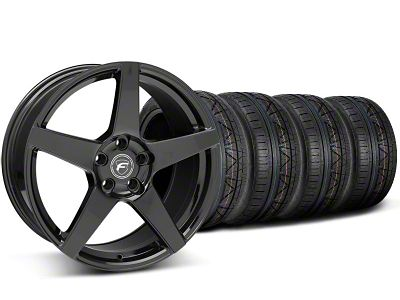 Forgestar CF5 Monoblock Piano Black Wheel & NITTO INVO Tire Kit - 19x9 (05-14 All)