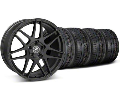 Forgestar F14 Monoblock Matte Black Wheel & NITTO INVO Tire Kit - 19x9 (05-14 All)