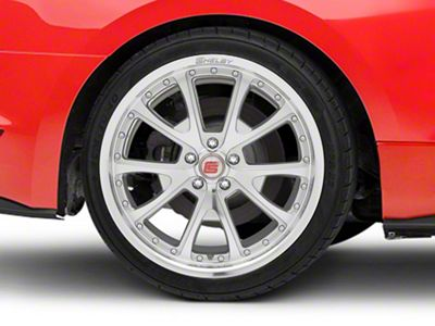 Shelby CS40 Silver Machined Wheel - 20x10 - Rear Only (15-19 GT, EcoBoost, V6)