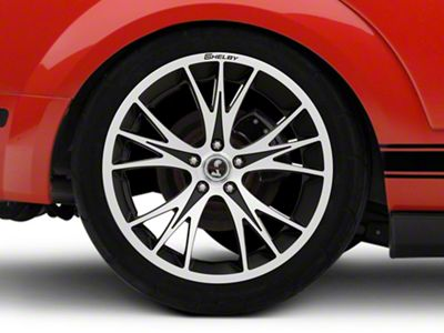 Shelby CS1 Black Machined Wheel - 20x11 - Rear Only (05-14 All)