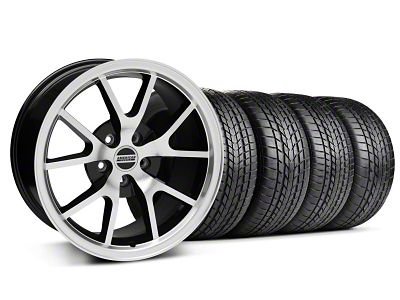 FR500 Style Black Machined Wheel & Sumitomo Tire Kit - 17x9 (99-04 All)