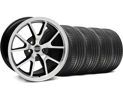 Staggered FR500 Style Black Machined Wheel & Sumitomo Tire Kit - 18x9/10 (94-98 All)