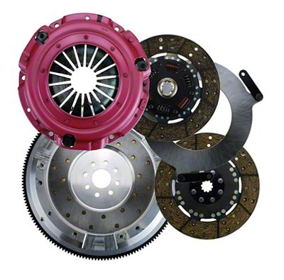 RAM Street Dual Disc Force 9.5 Clutch w/ 8 Bolt Aluminum Flywheel - 10 Spline (99-04 4.6L)