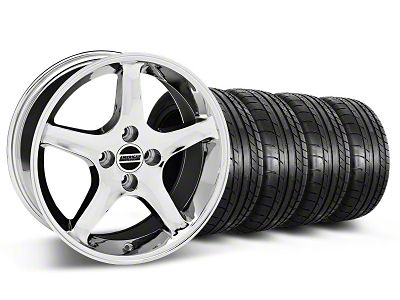 1995 Cobra R Style Chrome Wheel & Mickey Thompson Tire Kit - 17x8 (87-93 All, Excluding Cobra)