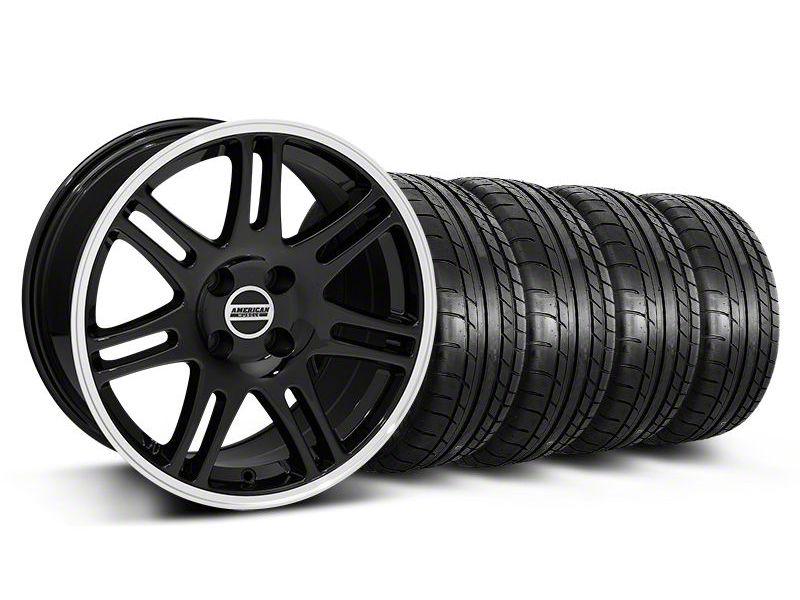 10th Anniversary Cobra Style Black Wheel & Mickey Thompson Tire Kit - 17x9 (87-93 All, Excluding Cobra)
