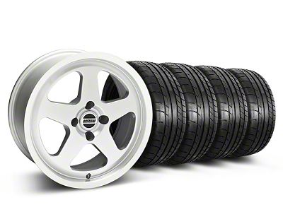 Staggered SC Silver Wheel & Mickey Thompson Tire Kit - 17x8/9 (87-93 All, Excluding Cobra)