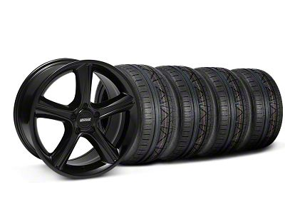 2010 GT Premium Style Black Wheel & NITTO INVO Tire Kit - 18x9 (05-14 GT, V6)