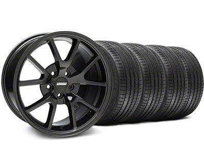 FR500 Style Solid Black Wheel & Sumitomo Tire Kit - 18x9 (05-14 All)