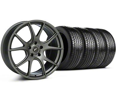 Forgestar CF5V Monoblock Gunmetal Wheel & Pirelli Tire Kit - 19x9 (05-14 All)