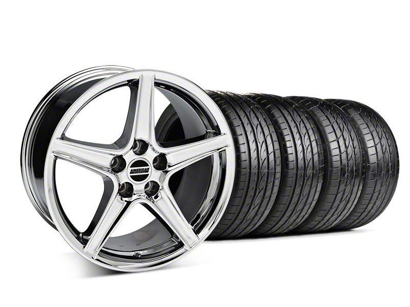 Saleen Style Chrome Wheel & Sumitomo Tire Kit - 19x8.5 (05-14 GT, V6)