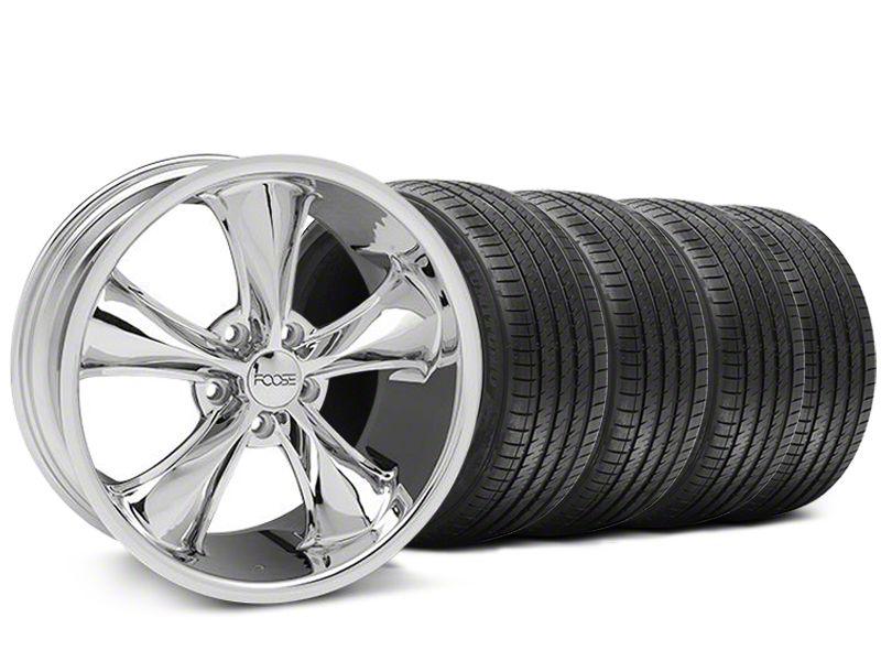 Staggered Foose Legend Chrome Wheel & Sumitomo Tire Kit - 18x8.5/9.5 (05-09 GT, V6)