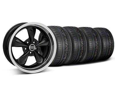 Staggered Deep Dish Bullitt Black Wheel & NITTO INVO Tire Kit - 18x9/10 (05-10 GT; 05-14 V6)